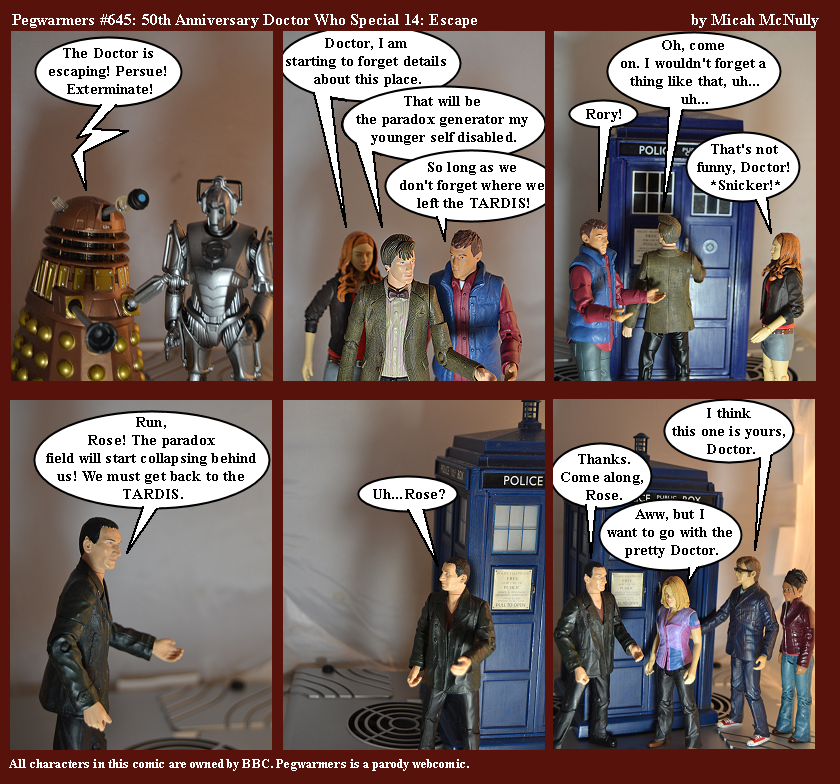 645. 50th Anniversary Doctor Who Special 14: Escape