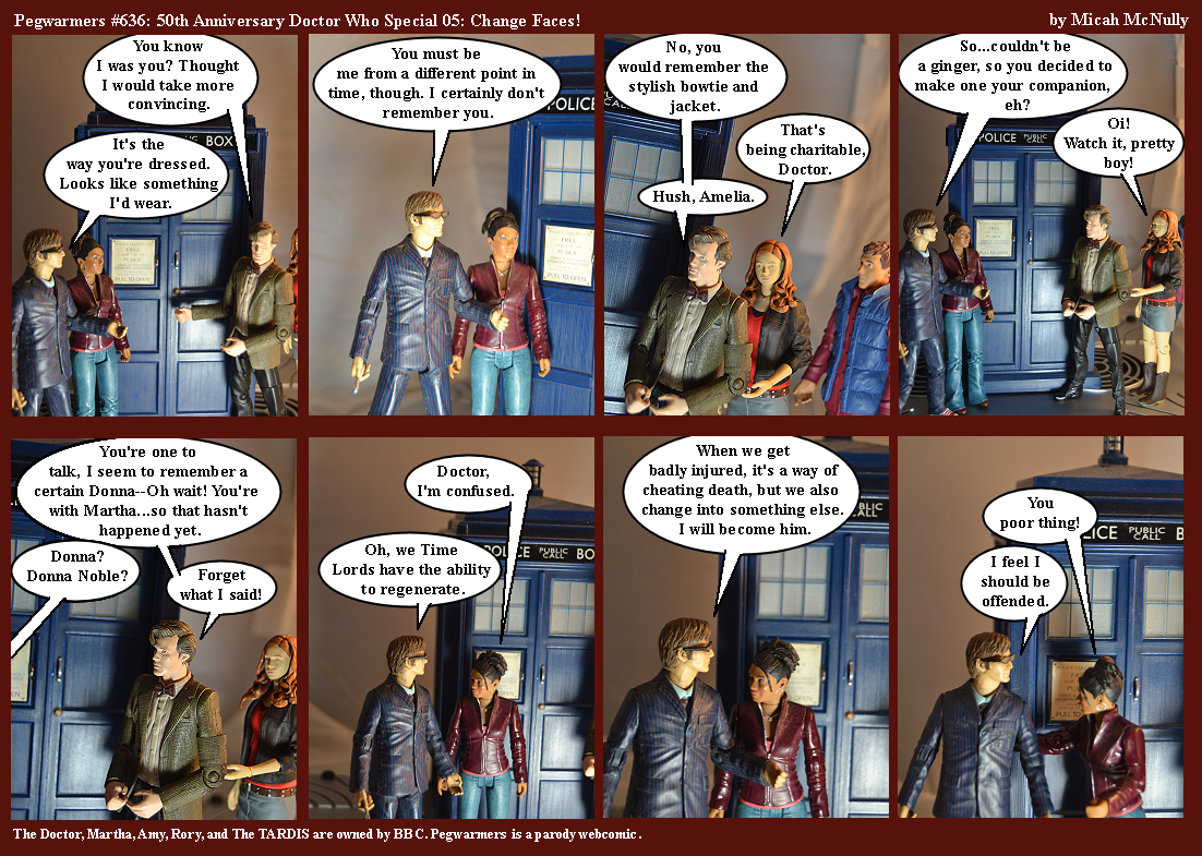 636. 50th Anniversary Doctor Who Special 05: Change Faces!