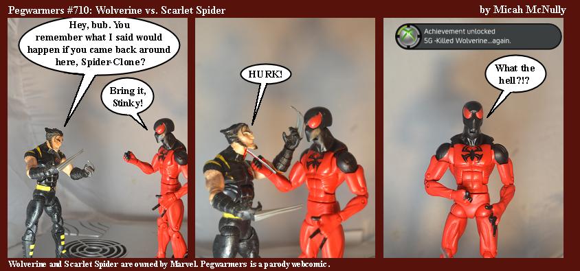710. Wolverine vs. Scarlet Spider