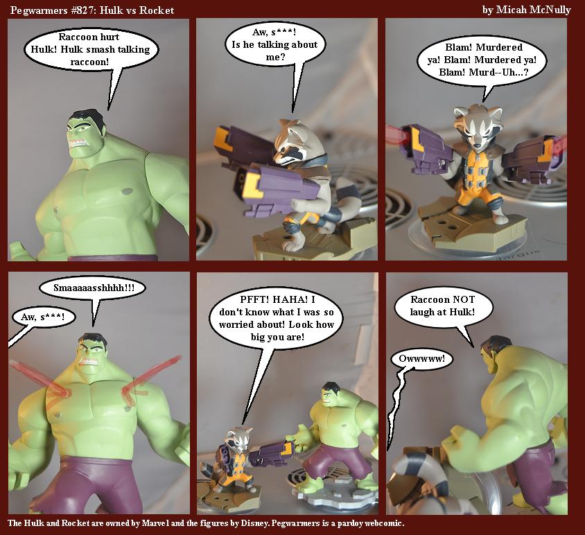 827. Hulk vs Raccoon